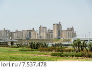 Купить «BAKU - MAY 10, 2015: Athletes Village on May 10 in BAKU, Azerbaijan. Baku Azerbaijan will host the first European Games», фото № 7537478, снято 10 мая 2015 г. (c) Elnur / Фотобанк Лори