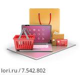 Купить «Концепция электронной коммерции», иллюстрация № 7542802 (c) Anatoly Maslennikov / Фотобанк Лори