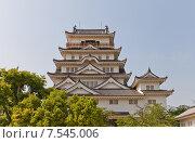 Купить «Донжон замка Фукуяма. Национальный исторический объект Японии. Построен в 1622, разрушен 1945 г., реконструирован в 1966 г.», фото № 7545006, снято 20 мая 2015 г. (c) Иван Марчук / Фотобанк Лори