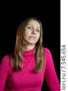 Женщина в красной блузке. Стоковое фото, фотограф Игорь Ворожбитов / Фотобанк Лори