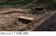Купить «Колодец в лесу и ручей. Пущино», видеоролик № 7548386, снято 5 августа 2020 г. (c) Mike The / Фотобанк Лори