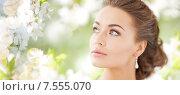 Купить «woman with diamond earrings», фото № 7555070, снято 17 марта 2013 г. (c) Syda Productions / Фотобанк Лори
