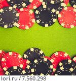 Купить «Красные и черные азартные фишки казино», фото № 7560298, снято 26 октября 2014 г. (c) Евдокимов Максим / Фотобанк Лори