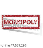Купить «MONOPOLY outlined stamp», иллюстрация № 7569290 (c) Иван Рябоконь / Фотобанк Лори