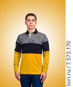 Купить «Male sweater against the gradient», фото № 7573170, снято 12 сентября 2012 г. (c) Elnur / Фотобанк Лори