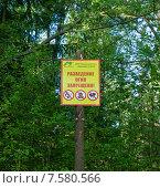 Разведение огня запрещено (2015 год). Редакционное фото, фотограф Сергей Неудахин / Фотобанк Лори