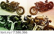 Коллаж с мотоциклами. Гранж. Стоковое фото, фотограф Chere / Фотобанк Лори