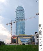 """Бизнес-центр """"Высоцкий"""". Строительство небоскреба Opera Tower (2015 год). Редакционное фото, фотограф Евгений Кузнецов / Фотобанк Лори"""