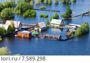 Купить «Наводнение в районе Нижневартовска», фото № 7589298, снято 20 июня 2015 г. (c) Владимир Мельников / Фотобанк Лори