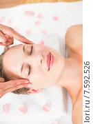 Купить «pretty blonde receiving head massage», фото № 7592526, снято 11 февраля 2015 г. (c) Wavebreak Media / Фотобанк Лори