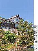 Купить «Башня Бугу Ягура замка Имабари (построен в 1604, реконструирован в 1980 г.) в г. Имабари, о. Сикоку, Япония», фото № 7595478, снято 21 мая 2015 г. (c) Иван Марчук / Фотобанк Лори