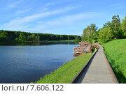 Купить «Джамгаровский пруд в Москве летом», эксклюзивное фото № 7606122, снято 2 июня 2015 г. (c) lana1501 / Фотобанк Лори