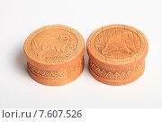Купить «Шкатулки из бересты», эксклюзивное фото № 7607526, снято 22 июня 2015 г. (c) Яна Королёва / Фотобанк Лори