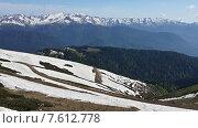 Купить «Между летом и зимой, отдых в горах Красной Поляны», фото № 7612778, снято 5 июня 2015 г. (c) DiS / Фотобанк Лори