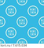 Купить «Faders sign blue pattern», иллюстрация № 7615034 (c) Иван Рябоконь / Фотобанк Лори