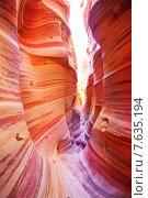 Купить «Каньон Антилопы. Штат Юта. США», фото № 7635194, снято 29 марта 2015 г. (c) Сергей Новиков / Фотобанк Лори