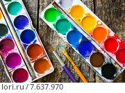 Акварельные краски. Стоковое фото, фотограф Alexander Alexeev / Фотобанк Лори