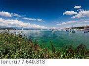 Вид на Женевское озеро Лак Леман в солнечный день (2012 год). Стоковое фото, фотограф Борис Ветшев / Фотобанк Лори