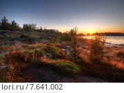 Восход в ладожских шхерах. Стоковое фото, фотограф Алексей Марголин / Фотобанк Лори
