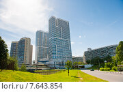 Купить «Многоэтажные дома в Северном Чертанове. Москва», фото № 7643854, снято 7 июня 2015 г. (c) Екатерина Овсянникова / Фотобанк Лори
