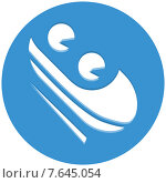 Бобслей, пиктограмма. Стоковая иллюстрация, иллюстратор Рада Коваленко / Фотобанк Лори