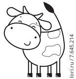 Купить «Смешная корова», иллюстрация № 7645214 (c) Рада Коваленко / Фотобанк Лори