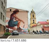 Граффити на стене в Москве, уличное искусство. Редакционное фото, фотограф Анатолий Хвисюк / Фотобанк Лори