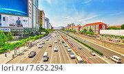 Купить «Широкая автострада современного Пекина. Китай», фото № 7652294, снято 20 мая 2015 г. (c) Vitas / Фотобанк Лори