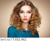 Купить «Fashion portrait of elegant woman with magnificent hair», фото № 7652462, снято 26 ноября 2014 г. (c) Ingram Publishing / Фотобанк Лори