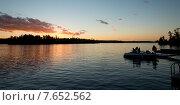 Купить «Lake at dusk, Lake of The Woods, Ontario, Canada», фото № 7652562, снято 6 октября 2013 г. (c) Ingram Publishing / Фотобанк Лори