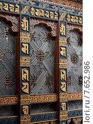 Architectural detail of the artwork at Punakha Dzong, Punakha, Bhutan (2010 год). Стоковое фото, фотограф Keith Levit / Ingram Publishing / Фотобанк Лори