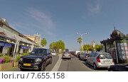 Купить «Вид из автомобиля на улицу вдоль побережья в Каннах, Франция», видеоролик № 7655158, снято 9 ноября 2014 г. (c) Алексас Кведорас / Фотобанк Лори
