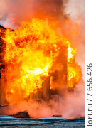 Купить «Fire in a house», фото № 7656426, снято 14 мая 2015 г. (c) Art Konovalov / Фотобанк Лори