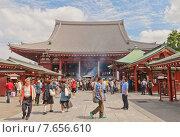Купить «Главный зал (Хондо) храма Сэнсо-дзи, Токио, Япония», фото № 7656610, снято 25 мая 2015 г. (c) Иван Марчук / Фотобанк Лори