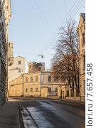 Купить «Пейзаж утренней Москвы», фото № 7657458, снято 28 января 2020 г. (c) Mikhail Starodubov / Фотобанк Лори