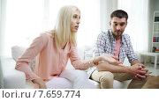 Купить «unhappy couple having argument at home», видеоролик № 7659774, снято 14 июня 2015 г. (c) Syda Productions / Фотобанк Лори