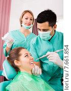 Купить «Patient at surgery office», фото № 7661854, снято 18 июля 2018 г. (c) Яков Филимонов / Фотобанк Лори
