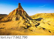cliff at landscape of bardenas reales natural park. Стоковое фото, фотограф Яков Филимонов / Фотобанк Лори