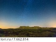 bardenas reales natural park in night. Стоковое фото, фотограф Яков Филимонов / Фотобанк Лори