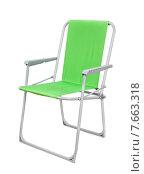 Купить «Складной стул», фото № 7663318, снято 6 июня 2015 г. (c) Антон Стариков / Фотобанк Лори