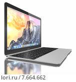 Новый серебряный MacBook Air. Редакционная иллюстрация, иллюстратор Sanda Stanca / Фотобанк Лори