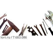 Строительные инструменты на белом фоне. Стоковое фото, фотограф Alexander Alexeev / Фотобанк Лори