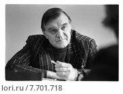 Бондарев Юрий Васильевич - русский писатель. Редакционное фото, фотограф Борис Кавашкин / Фотобанк Лори