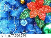 Купить «blue christmas background», иллюстрация № 7706294 (c) PantherMedia / Фотобанк Лори