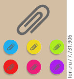 Купить «vector paper clip icons with color variations», иллюстрация № 7731906 (c) PantherMedia / Фотобанк Лори