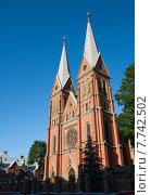 Католическая церковь Св. Франциска, Рига, Латвия (2014 год). Стоковое фото, фотограф Юлия Бабкина / Фотобанк Лори