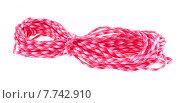 Купить «Веревка на белом фоне», фото № 7742910, снято 19 июля 2015 г. (c) Литвяк Игорь / Фотобанк Лори