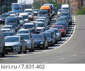 Купить «Пробка на Нижегородской улице в Москве», эксклюзивное фото № 7831402, снято 3 июня 2014 г. (c) lana1501 / Фотобанк Лори