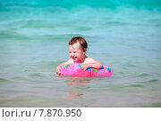 Купить «Маленькая девочка в море», фото № 7870950, снято 14 июня 2015 г. (c) Морозова Татьяна / Фотобанк Лори