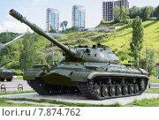 Купить «Парк Победы в Нижнем Новгороде. Тяжелый танк Т-10М», фото № 7874762, снято 19 июля 2015 г. (c) Александр Романов / Фотобанк Лори